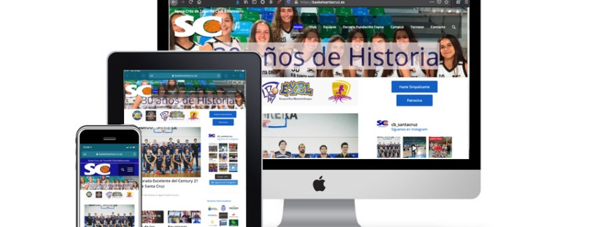 Nueva web basketsantacruz.es